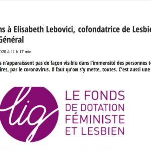 Covid-19 : l'urgence pour les lesbiennes (La LIG dans Komitid)